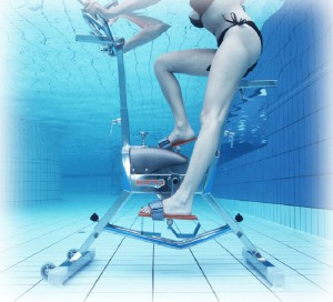 The hot French fitness fad, aqua fitness, gets an upgrade with the unveiling of the Water Rider 5 Aquabike